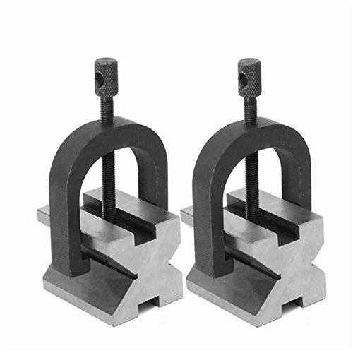 2pcs Vee Blocks Clamp 40x32x32mm Precision Vee Blocks Kit - Mechanical Parts Lathe Tool - 1 Pair Of Vee Blocks Clamp Set(40mm x 32mm x ()