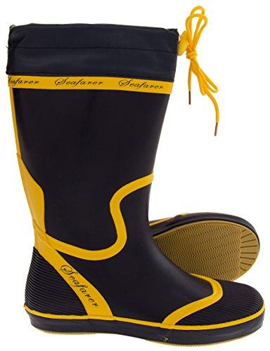 Bottes Flirty Wardrobe Caoutchouc 3 amp; Taille Navy nbsp;5 Seafarer Blue Yellow nbsp;8 Festival nbsp;7 En nbsp;6 Imperméable nbsp;4 AB4xAqf