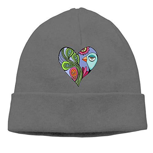 (Ghhpws Heart Art 02 Beanie Wool Hats Knit Skull Caps Warm Winter Beanies for Men Women DeepHeather)