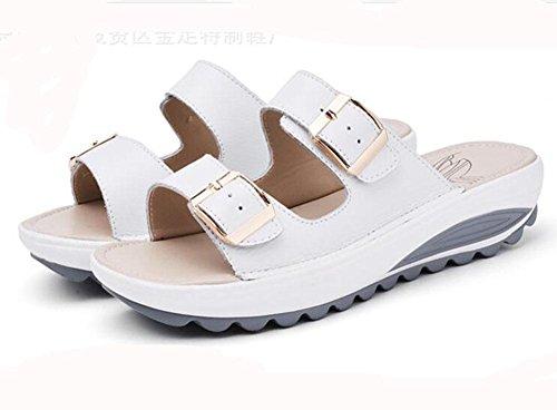 dérapant épais KUKI pantoufles anti métallique Pantoufles boucle sandales casual 2 femme nOXZOxr