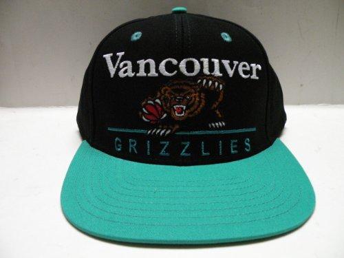 (adidas NBA Vancouver Grizzlies Block Script Black 2 Tone Snapback Cap Memphis)