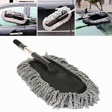 Automobile Mop - Car Wash Cleaning Brush Duster Dust Wax Mop Microfiber Telescoping Dusting Tool - Pout Cable Gondola Wipe Elevator Machine Swob Railway Railcar Swab Motorcar - 1PCs by Unknown