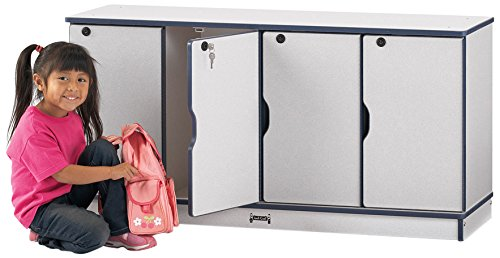 Rainbow Accents 4697JC114 Stacking Lockable Lockers, Triple Stack, Orange