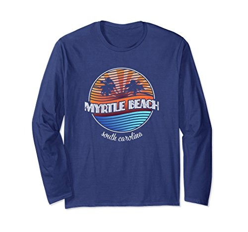 Unisex Myrtle Beach South Carolina Retro Long Sleeve Shirt Medium - Beach Women Myrtle