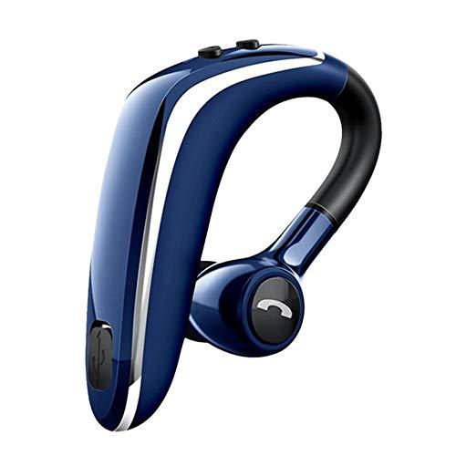 RONSHIN Electronics Wireless Earphone Bluetooth 5.0 Headset Long Standby Business Driving Hanging Ear Headset IPX4 Waterproof Sports Headphone Blue