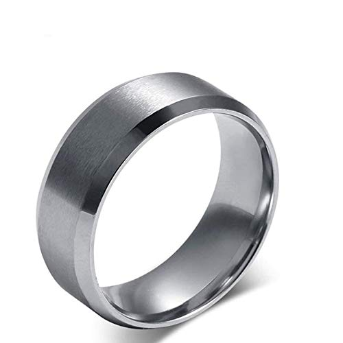 Fxbar Fashion Stainless Steel Rings High Polishing Eternity Classic Titanium Ring Couple Minimalist Jewelry Gift (,)
