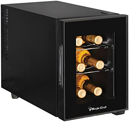 Magic-Chef-MCWC6B-6-Bottle-Single-Zone-Black-Wine-Cooler