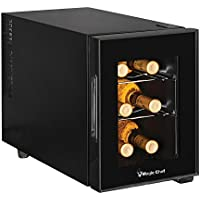 Magic Chef MCWC6B 6 Bottle Countertop Wine Cooler, 13 x 23 x 18, Black