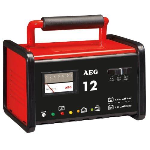 AEG 97009 Chargeur d'atelier WM 12 ampères pour batteries 6 et 12 V, CE, IP 20