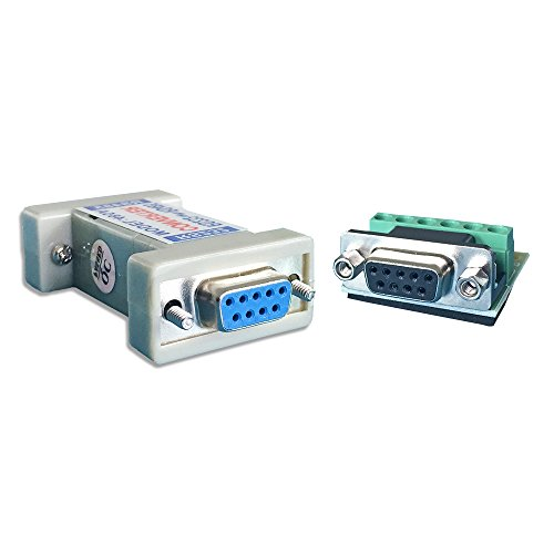 LFHUKEJI RS232 to RS485, RS-232 Female to RS-485/RS-422 485/422 Female Adapter Converter(Passive) (Rs232 Rs485 Converter)
