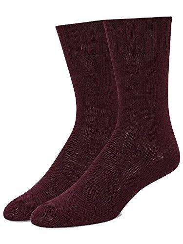 B.ella Women's Este Cashmere Blend Jersey Crew Socks, Mulberry, Medium