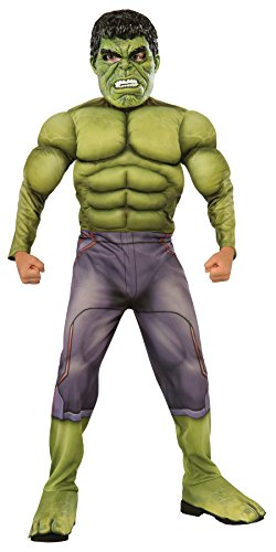 [UHC Deluxe Boy's Hulk jumpsuit Movie Theme Child Halloween Fancy Costume, Child S (4-6)] (Incredible Hulk Costume Kids)
