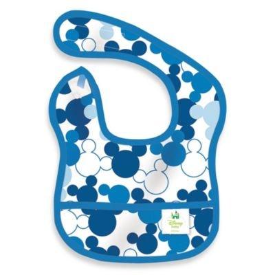 Disney Baby Mickey Mouse Blue Starter Bib from Bumkins'