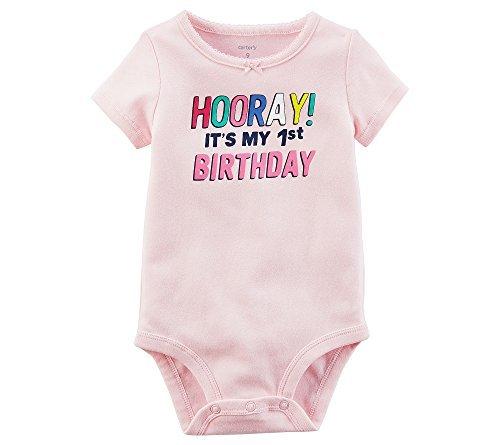 (Carter's Baby Girls' 1st Birthday Collectible Bodysuit 12 Months)