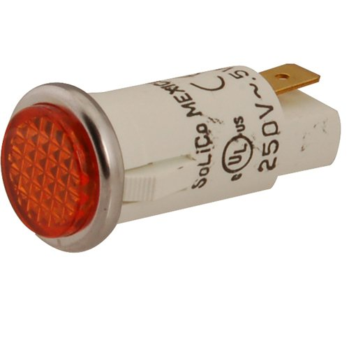 WELLS Flat Lens Indicator Light Amber lens 2J-30516