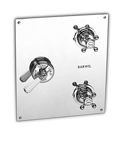CONCEALED THERMOSTATIC VALVE WITH 2 VOLUME CONTROLS ON RECTANGULAR PLATE (CERAMIC DISC), Inca - Ceramic Disk Concealed