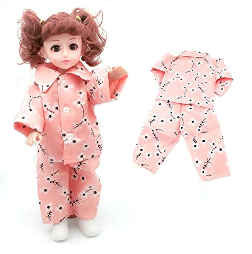 EatingBiting(R) Chic Doll Pink Plum Cherry Blossoms Flower Sakura Pajamas Sleeping Wear Set Suit for 18
