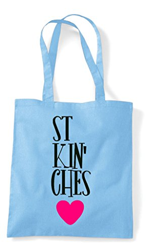 Bitches Bag Part Fucking Friends Tote Shopper Two Sky Statement Matching Bff Best Blue 165qyAz6