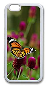 iphone 6 plus 5.5inch Case Beautiful Monarch Butterfly 2 Animal TPU Custom iphone 6 plus 5.5inch Case Cover Whtie