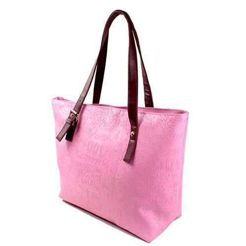 para 182458MO0F2 Rosa al Bolso rosa Faraw hombro Rosa mujer qatxw