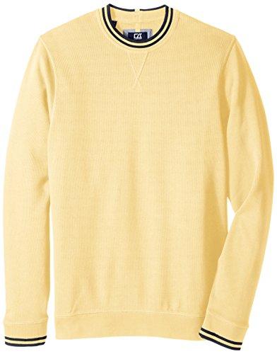 UPC 616000271854, Cutter & Buck Men's Big-Tall Heritage Crew Neck Sweatshirt, Sunflower, 3X/Big