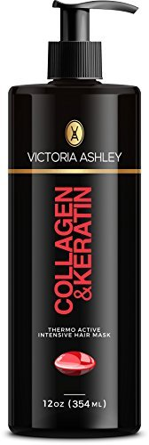 Thermo Bond (Victoria Ashley Thermo Active Hair Mask with Collagen & Keratin, Deep Conditioning for Silky Smooth, Soft, Frizz-Free, Hair | 12oz)