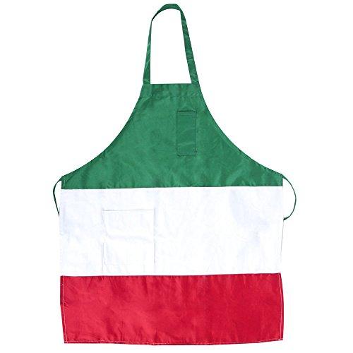 (Restaurant linen Italian Three Panel Full Length Bib Apron with Pockets Size 32