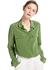 LilySilk Womens 100% Silk Blouse Long Sleeve Ladies Shirts 18 Momme Silk