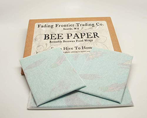 3 Pack - Lunch Set | All Natural Beeswax Food Wraps | Reusable wraps | Bee Paper | Plastic Alternative | Fading Frontier Trading Company