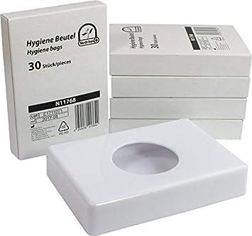 Dispensador de bolsas higiénicas en varios colores + 5 x 30 Bolsas Higiénicas Starterset de medi-inn - blanco+5x30Hygienebeutel: Amazon.es: Salud y cuidado ...