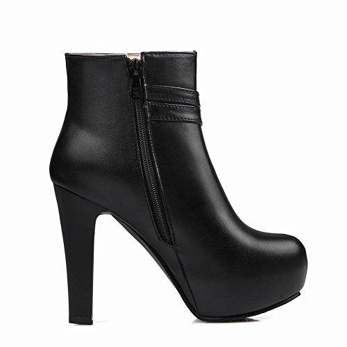 Latasa Womens Bow Dress Boots Ankle Black Heels High Platform rrOBTwqP