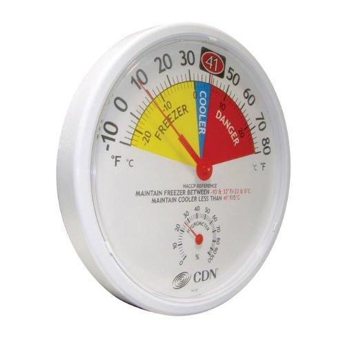 CDN Refrigerator Freezer Thermometer Hygrometer