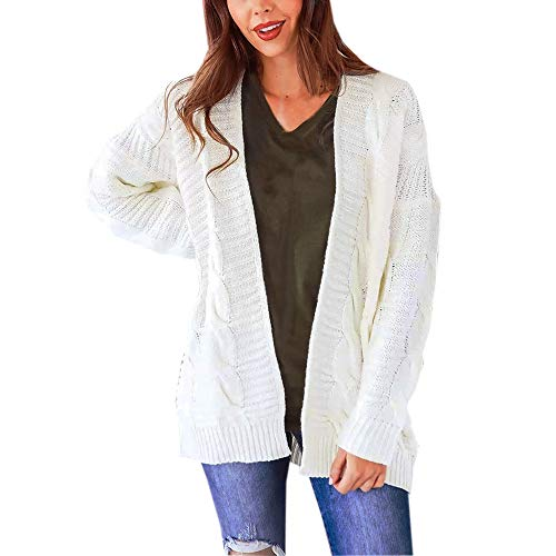 Sunhusing Ladies Twist Hemp Shape Knitwear Thick Sweater Long Open Front Cardigan Jacket