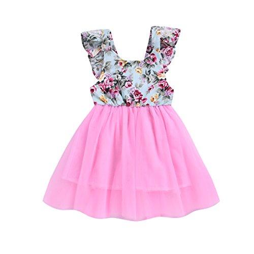 919de52c697 Treafor Toddler Baby Girls Tulle Dresses