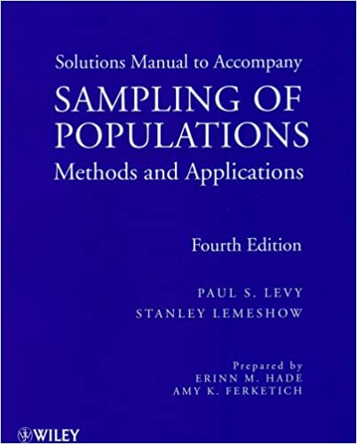 Sampling of Populations, Solutions Manual: Methods and Applications