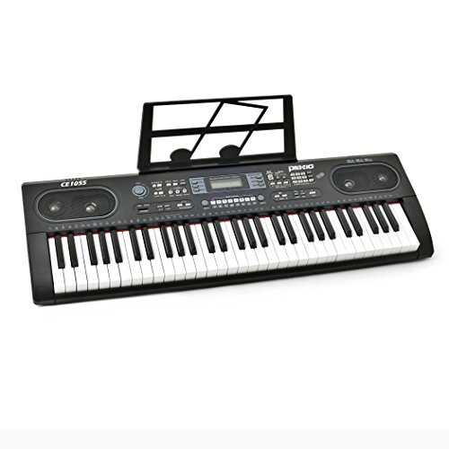 Plixio 61 Key Electronic Keyboard Piano with LED Display, St