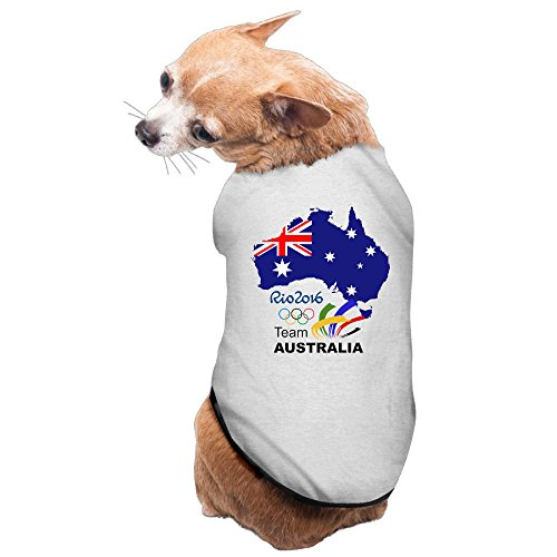 Art RIO 2016 TEAM AUSTRALIA IN BRAZIL Pet Dog 100% Fleece Vest Clothes Gray US Size - In Beyonce Shades