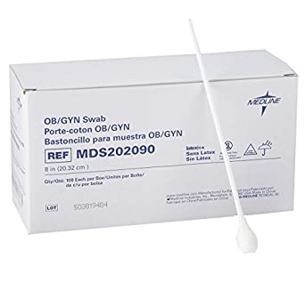Medline MDS202090Z Non-sterile OB/GYN Swabs, (Pack of 100)