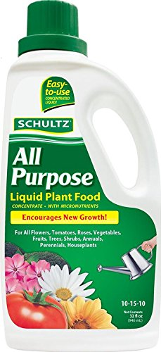 Schultz SPF45180 All Purpose Liquid Plant Food 10-15-10 Fertilizer, 32 (32 Ounce Fertilizer)