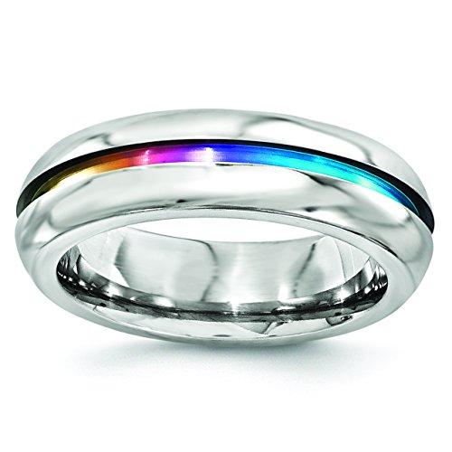 Edward Mirell Titanium 6mm Miligrain Wedding Band Ring ()
