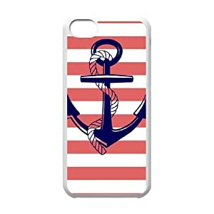 LJF phone case Sailor Anchor Unique Fashion Printing Phone Case for Iphone 5C,personalized cover case ygtg574928