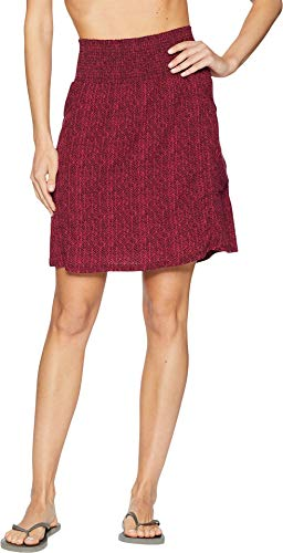 prAna Women's Sugar Pine Athletic Skirt, X-Small, Black Cherry Bodhi -