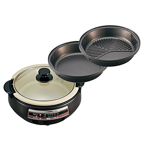 Zojirushi [pot-style pot & sukiyaki pot & groove with grilled meat plate] grill pan EP-PW30-TA