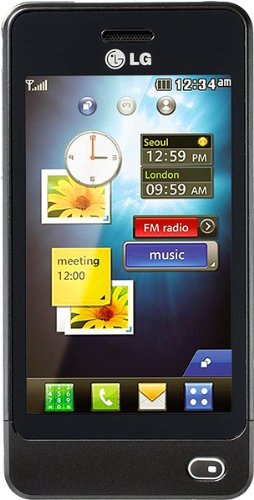LG GD510 Unlocked GSM Quad-Band Cell Phone with 3MP camera, Touch Screen, MP3 Player, and Bluetooth–International Version with No Warranty (Black)