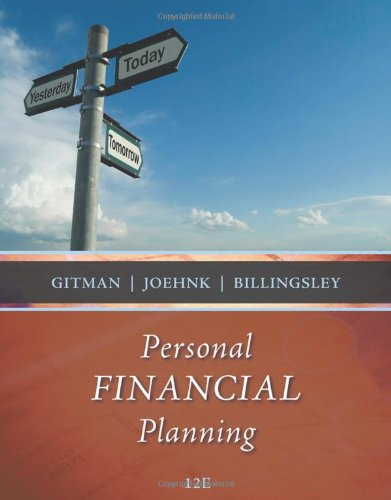 Personal Financial Planning (Available Titles CourseMate)