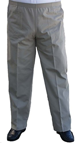 Best-selling Sportswear The Senior Shop Men' Full Elastic Waist Twill Casual Pant / Khaki