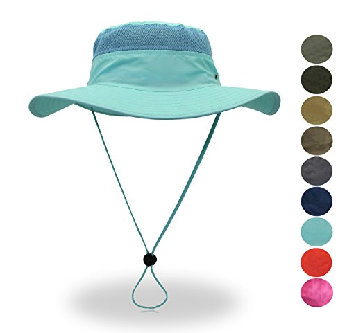 belababy Sun Hat Light Blue for Summer Outdoors Quick-Dry Boonie Hat Nylon Hat