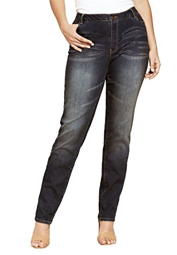 Women's Plus Size Straight Leg Jean with Invisible Stretch