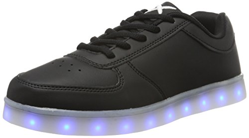 wize & ope Unisex-Erwachsene LED-Low Top Schwarz (Black 02)