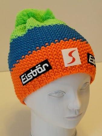 Eisbär Star Neon Pompom SP Bobble Hat Orange   Blue   Green  Amazon.co.uk   Sports   Outdoors 4f12d47c2381
